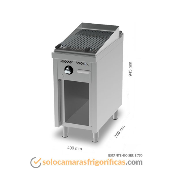 Dimensiones Barbacoa Estante 400 SERIE 750 FAINCA