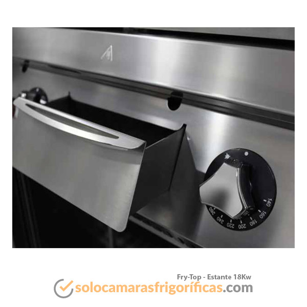 Detalles Fry-Top ESTANTE 18Kw