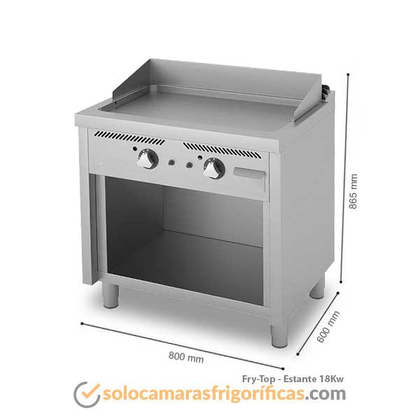 Medidas Fry-Top ESTANTE 18KW FAINCA