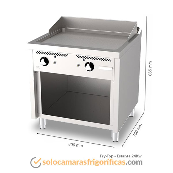 Detalles Fry-Top ESTANTE 24Kw