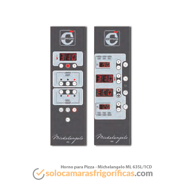 Control Digital Horno de Pizza CUPPONE - MICHELANGELO ML 635L/1CD