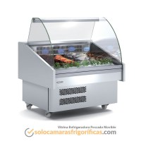 Vitrina Expositora Refrigerada Pescado Movible